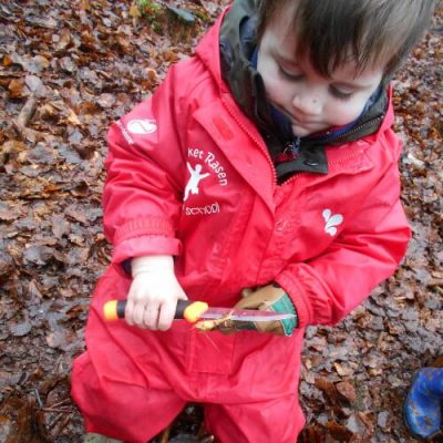 Forest School Whittling With Knife